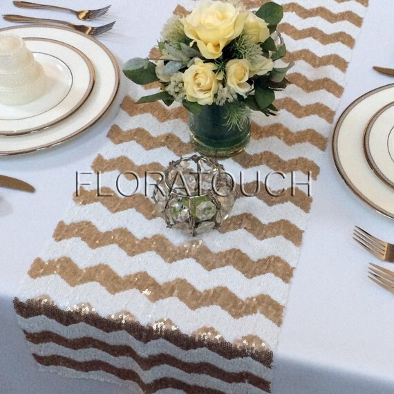 gold chevron table runner gold sequin table runner. Black Bedroom Furniture Sets. Home Design Ideas