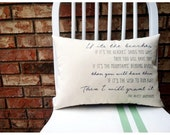 If It's the Beaches- The Avett Brothers, Customizable Double Sided Lyric Pilllow