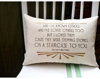 The Offering- The Avett Brothers, Customizable Double Sided Lyric Pillow