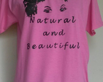 Teen Pink with Black Natural and Beautiful T-Shirt