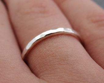 Thick Sterling Silver  Ring 14 gauge Thumb Ring Stacking Ring