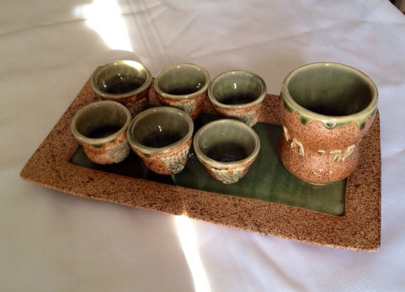 Kidush Cup Set for 8--MADE TO ORDER.  (can be custom made with more or less cups)