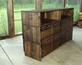 "Reclaimed Wood look Furniture 58"" wide x 36"" tall x 19 deep Media Console tv stand Barn Wood Look TV Cabinet Entertainment Center distressed"