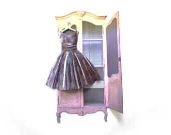 Miniature Handpainted Paper Dress --- First Date