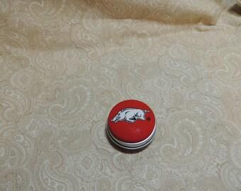 Arkansas Razorbacks Tooth Fairy Box, Trinket / Pill Box