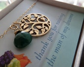 Mother of the groom gift, Tree of life necklace, mother necklace, bronze tree pendant, birthstone, mom gift
