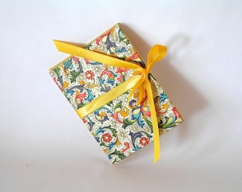 Accordion book yellow  Italian Florentine - 3x4in. - Ready to ship