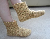 Lovely Happy  Warm High Top Slippers House Boots For Woman Or Man Size 7-8 Or 9