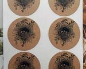 Stickers Bird Nest Envelope Seals Wedding Party Favor Treat Bag Sticker SP007