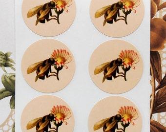Stickers Bee Flower Vintage Style Envelope Seals Wedding Party Favor Treat Bag Sticker SP046