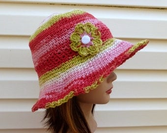 Sun Lover Sun Hat  - Italian Cotton Yarn