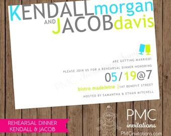 Custom Printed Rehearsal Dinner Invitations - 1.00 each with envelope