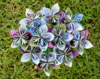 Disney Magic Kingdom Park Map Paper Flowers {10 Small Size}