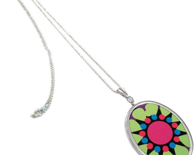 Oval Pendant Necklace Blank