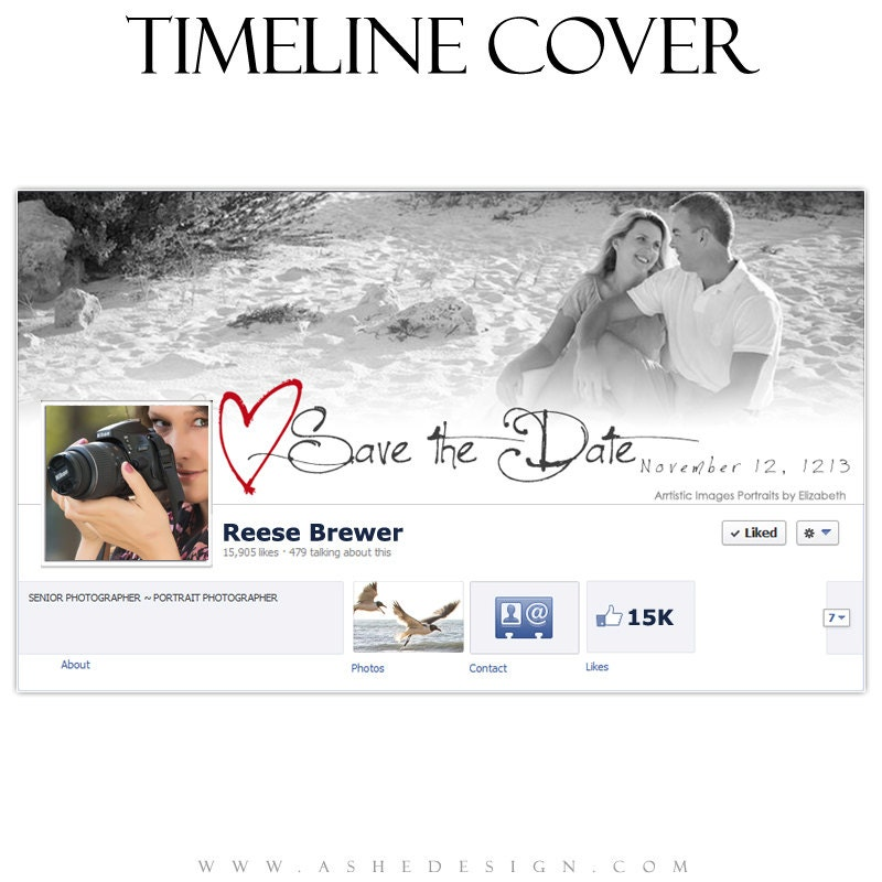 Save The Date FACEBOOK TIMELINE COVER Cross My By Ashedesign