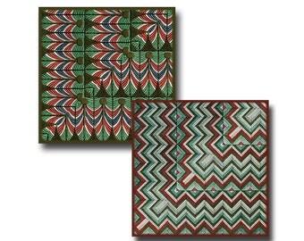 Vintage Egyptian Tiles - 2 inch squares - Digital Download