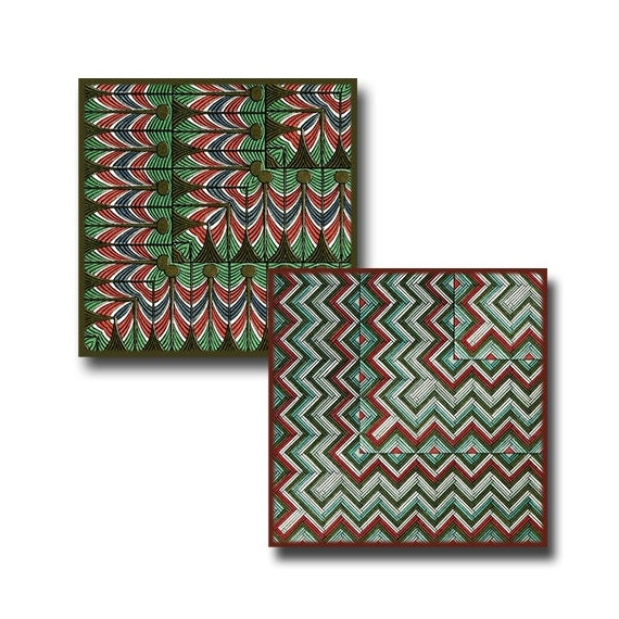 Vintage Egyptian Tiles - 2 inch squares - Digital Download