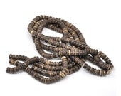 Brown coconut beads - eco friendly rondelle beads 8mm - 100pcs  (PC214D)