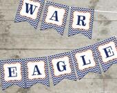 Auburn War Eagle Chevron Printable Banner