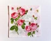 Red Roses Napkin, Paper Napkin for Decoupage, Craft Napkin, Scrapbooking Napkin, Decoupage Paper Tissue