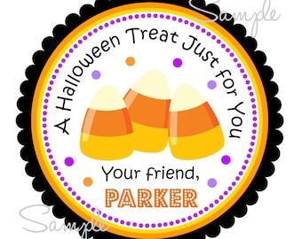 Printable Halloween Gift Tags,  Candy Corn, Hang Tags, Halloween Labels, Digital file, DIY