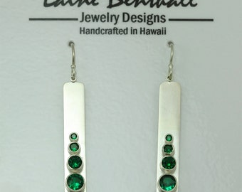 4 Stone Sequence Earring (Emerald) made to order