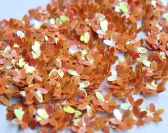 100 Peach Color Flower sequins/KBSF420