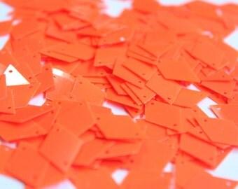 100 sequins DIAMOND SHAPE/ Neon Orange Color/KBPS543