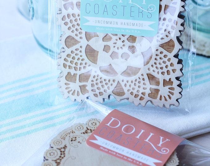 doily coasters