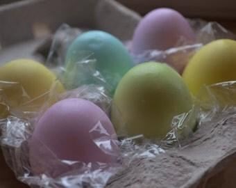 Easter Egg Soap - Half Dozen Colored Egg Soaps in Carton - Egg Soap - Dyed Easter Eggs - Novelty Soap - Spring - Spring Decor - Vegan Soap