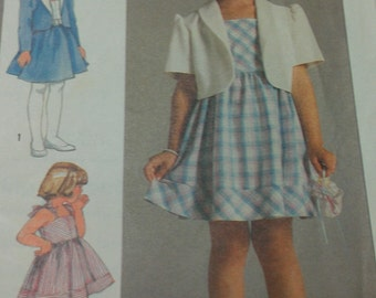 Girls Sundress and Unlined Jacket 4 5 6 Simplicity 6815