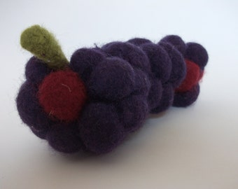 Knitted grapes, felted grapes, wool fruit