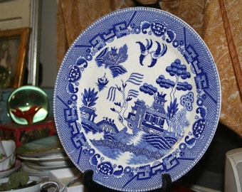 Old Blue Willow Plate