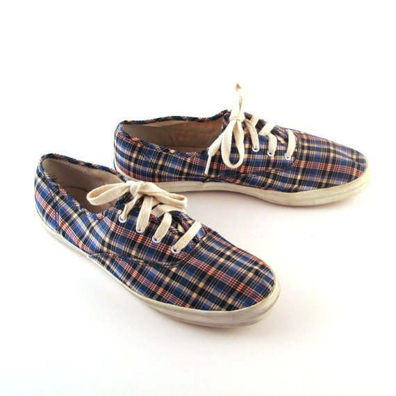 plaid keds shoes vintage 1990s canvas chions sneakers