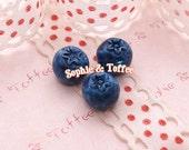 Blueberry Fruit Miniature / Resin Decoration Decoden (Medium Size) - 6pcs