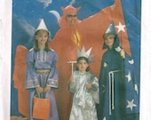 Toddler Devil Statute of Liberty Merlin Wizard Halloween Costume Sewing Pattern Simplicity 6672 Child size 2 4 Girls Boys