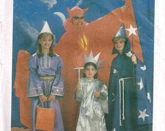 Toddler Devil Statute of Liberty Merlin Wizard Halloween Costume Sewing Pattern Simplicity 6672 Child size 2 4 Girls Boys