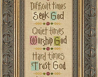 Lizzie Kate - Time For God - Counted Cross Stitch Pattern Chart