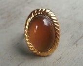 1970s Fancy Mood Ring RARE Large GOLD Rope 232G