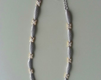 1987 NY Designer Sterling Silver TEST Cable Necklace