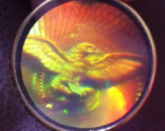Awesome 1960s Hologram Pendant EAGLE Design