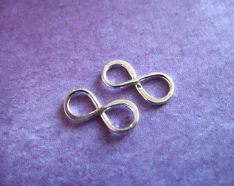 Sterling Silver or Gold Vermeil INFINITY Charms Pendants, Small, 11.5x5 mm, n322 art solo