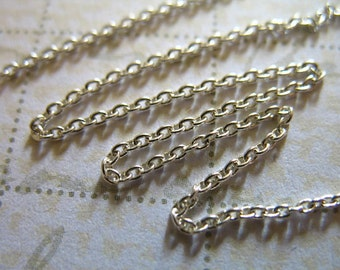 Shop Sale..10 feet, 1.1 mm Round Cable Chain, Sterling Silver Chain, 10-35% Less Wholesale Jewelry Chain, petite, SS..S66..hp