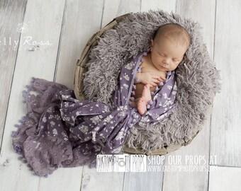Newborn Girl Photo Props, Plum Floral Lace Drape Newborn Photography Props, Layers, Baby Photo Props, Baby Wrap Props, Girl Props, Floral