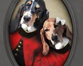 Basset Hound Art Canadian Sellers Pet Portrait Love Print Animal Art Photography Dog Print Lonely Pixel 8x10 PRINT - Hound Love