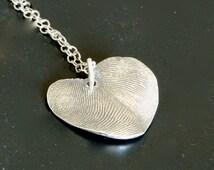 Mother-of-the-Bride Bride & Groom Fingerprint Necklace
