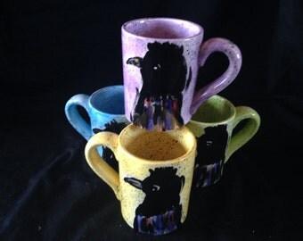 Raven mug in Purple