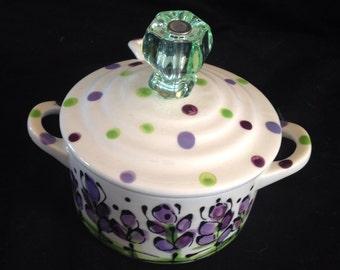 Lupin or lavender salt box