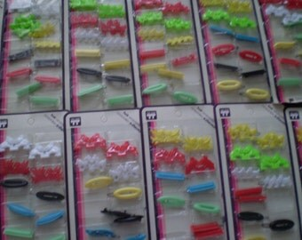 Reserved For djumeda SALE Vintage Faberge Tip Top Plastic Barrettes Still in Packages Original Vintage Old Stock Animals