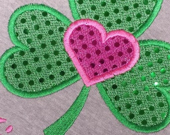 Shamrock St. Patrick Day Custom Personalized Girls shirt